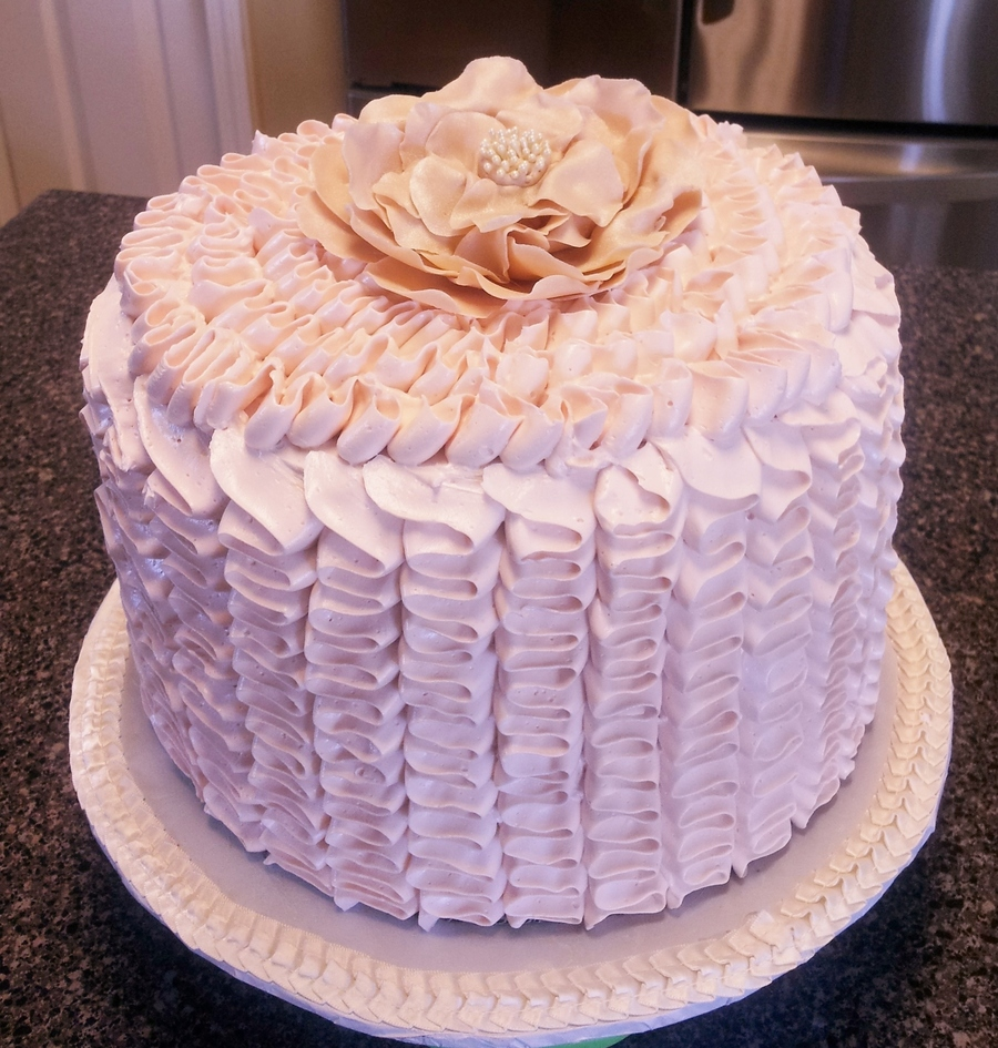 Ruffle Bridal Shower on Cake Central