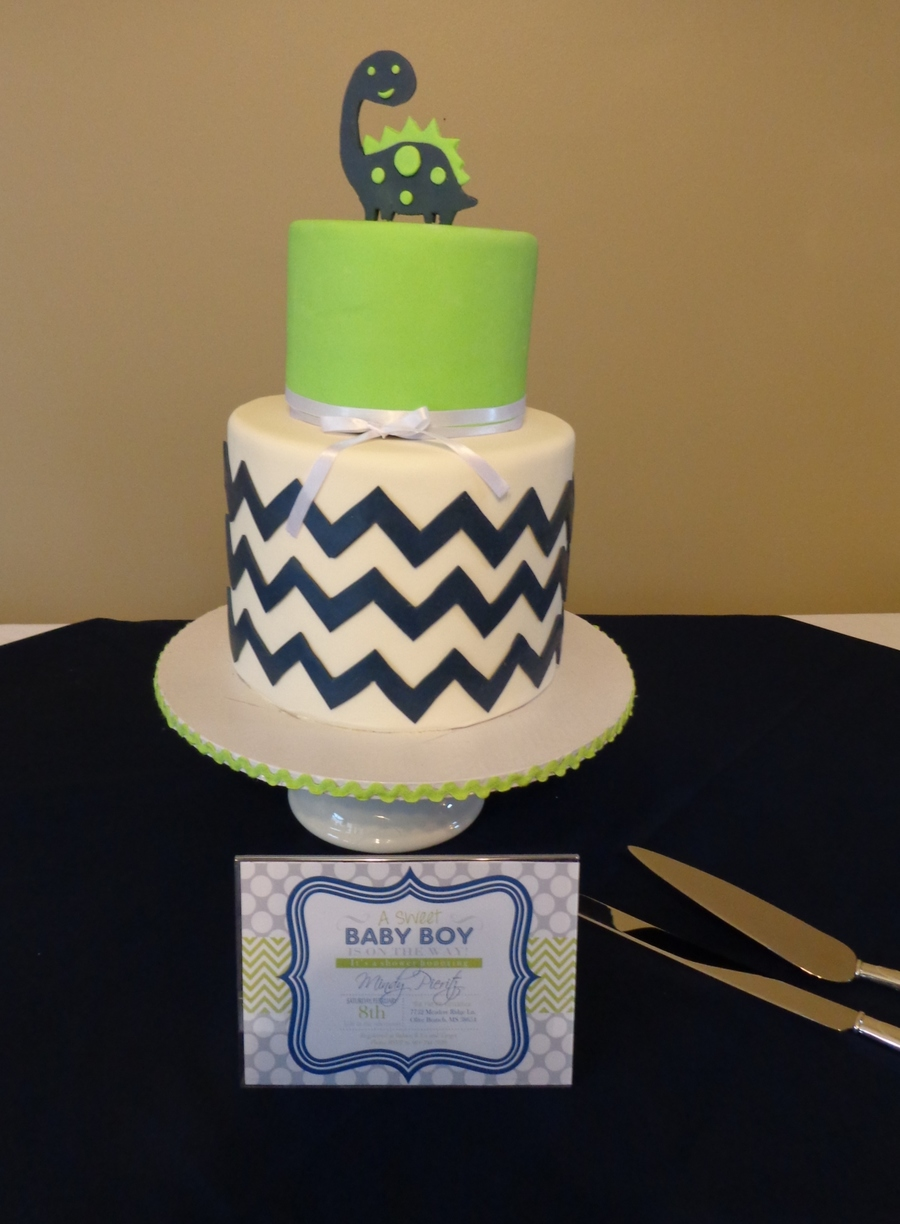 Mindys Chevron Baby Shower Copy on Cake Central