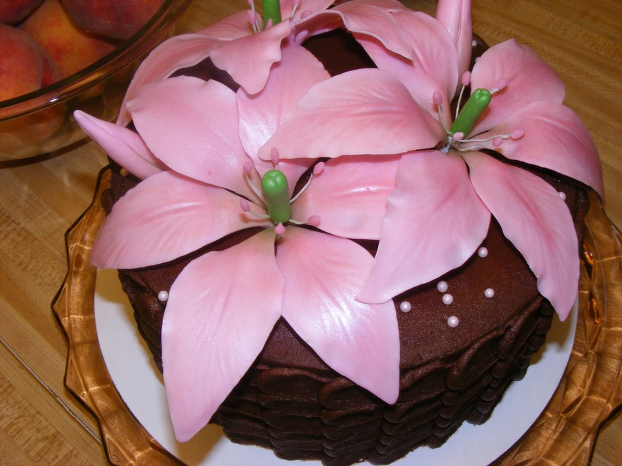 Asiatic Lily Gluten Free Cake on Cake Central