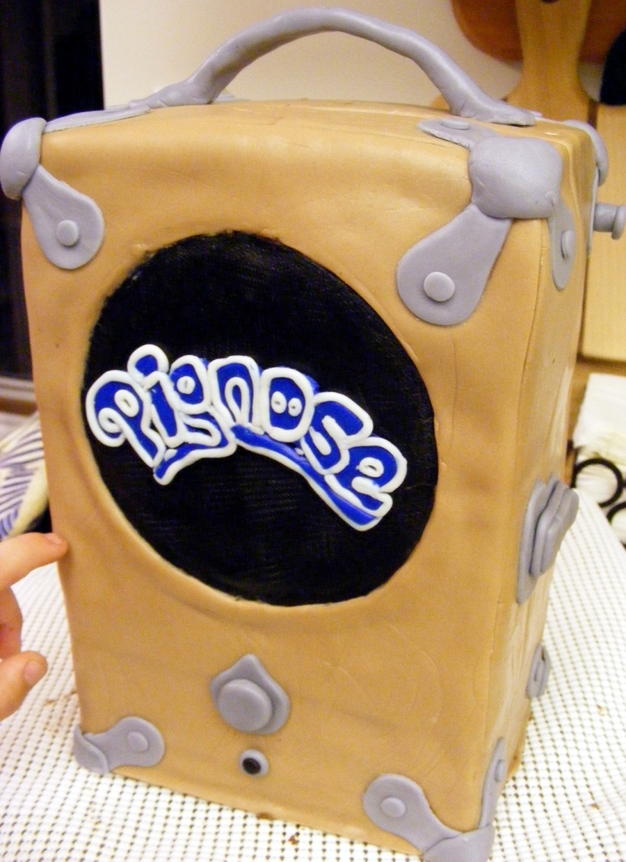 Pignose Amp Cake  on Cake Central