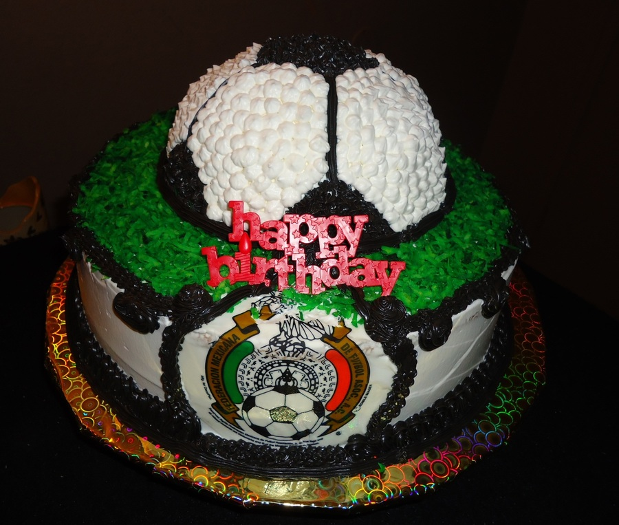 Brilliant Mexican Soccerball Birthday Cake Cakecentral Com Funny Birthday Cards Online Fluifree Goldxyz