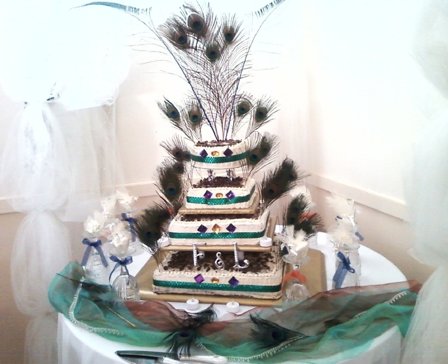 Pea**** Chocoflan Wedding Cake on Cake Central