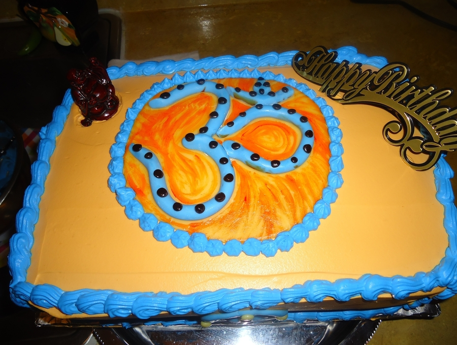 Peace Symbol on Cake Central