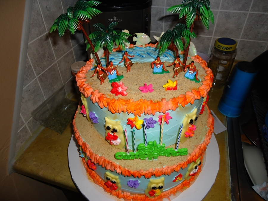 Hawaian Beach Owl Cake on Cake Central