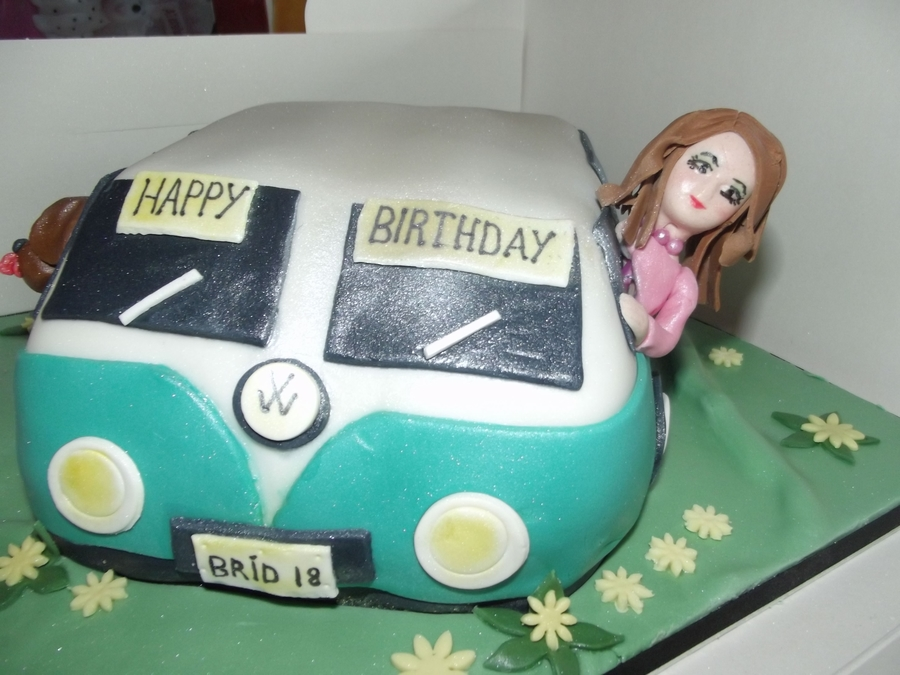 Vw Campervan Fan on Cake Central