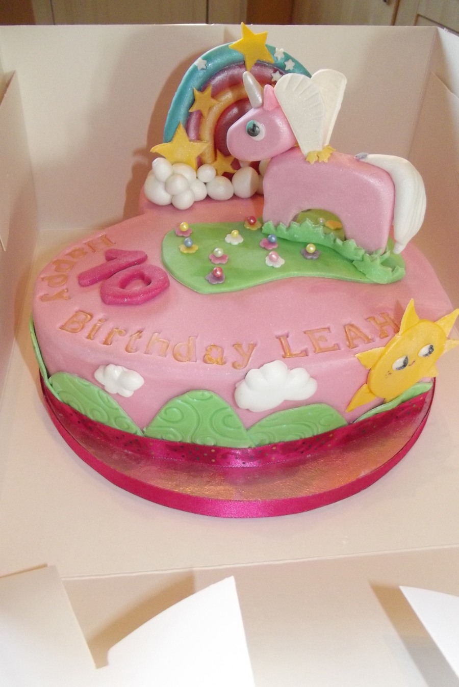 Unicorn/rainbow  on Cake Central