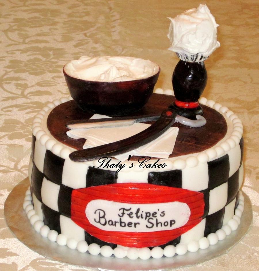 Barber shop cake for Salon cake design