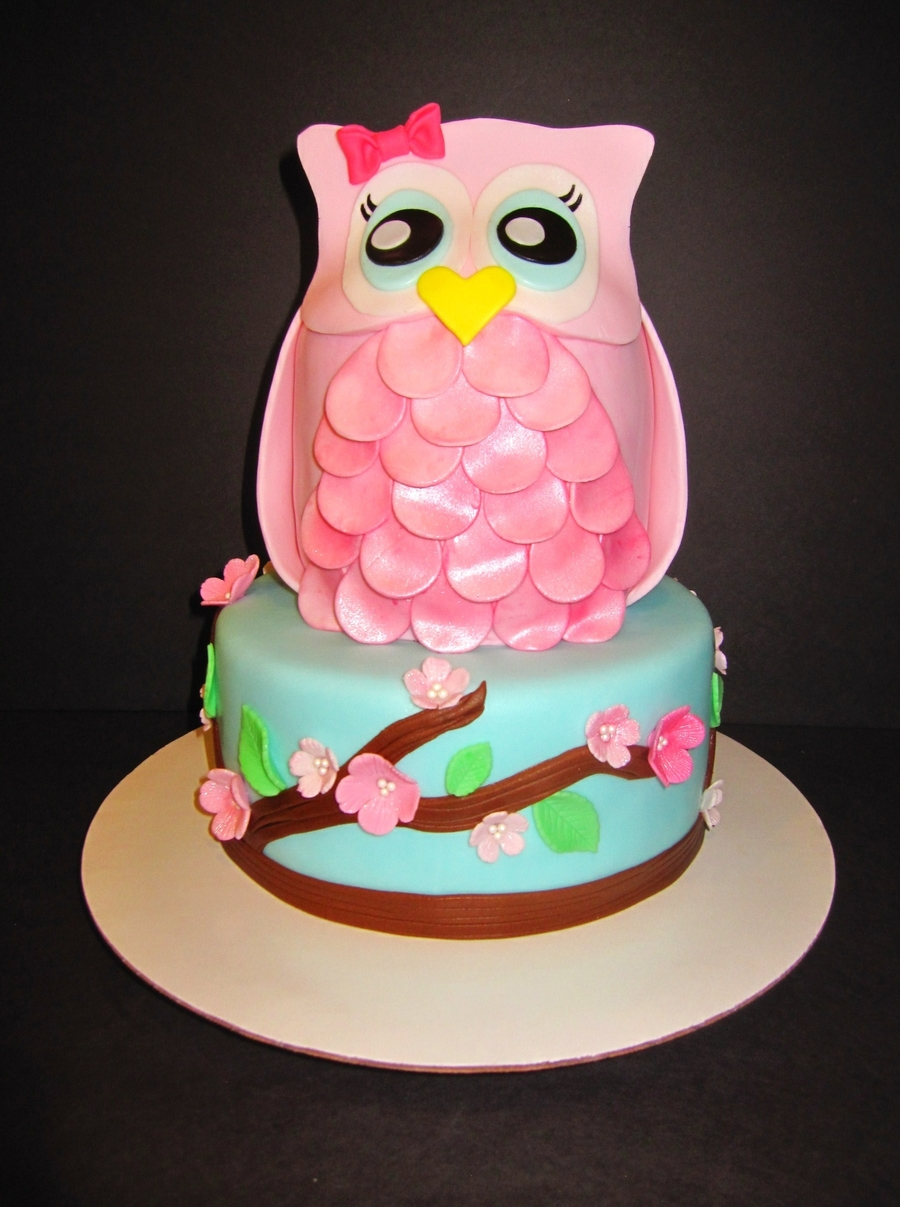 Cherry Blossom Baby Owl on Cake Central