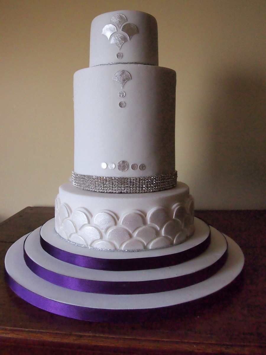 Gatsby Inspired 3 Tier Wedding Cake Cakecentral Com