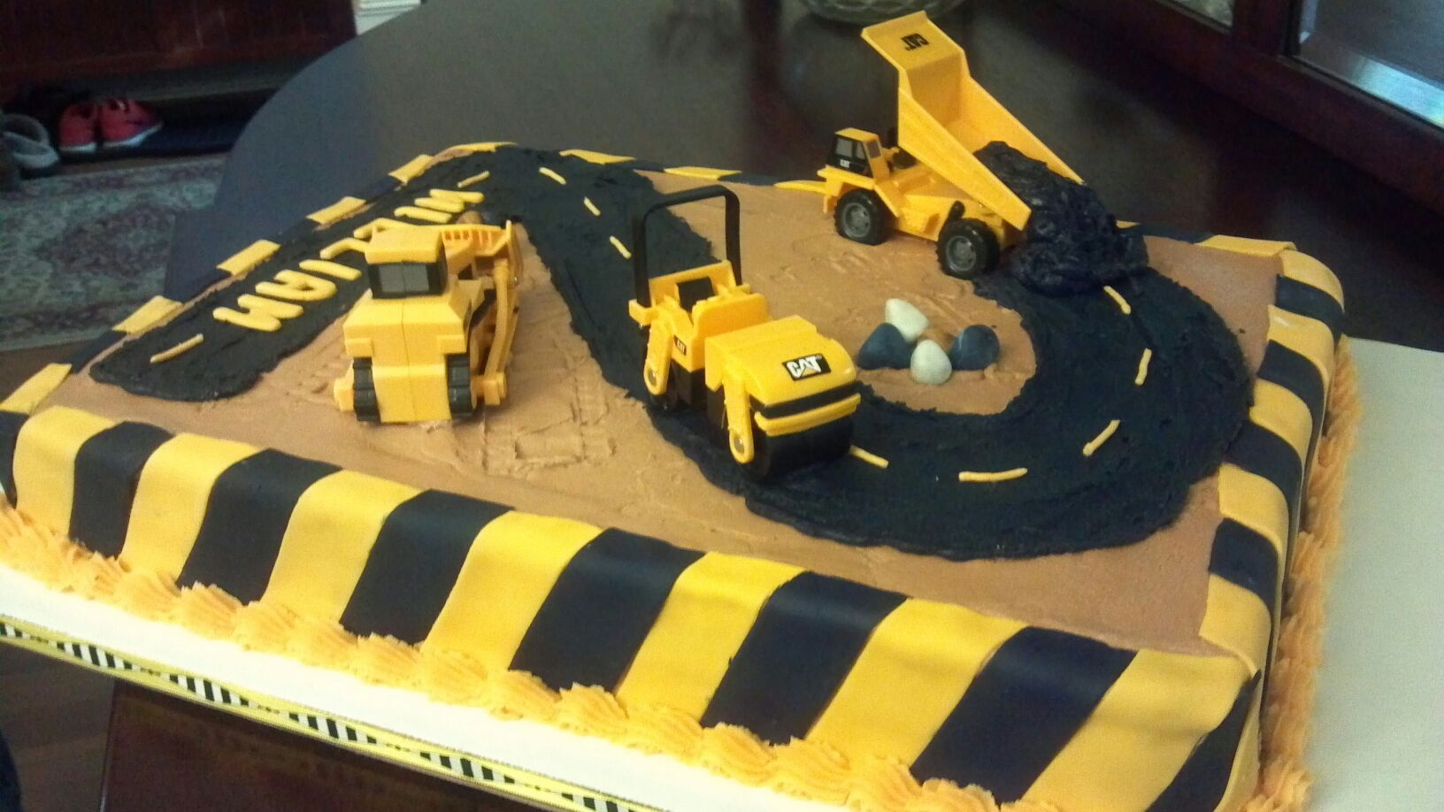 Birthday Cake Construction Trucks