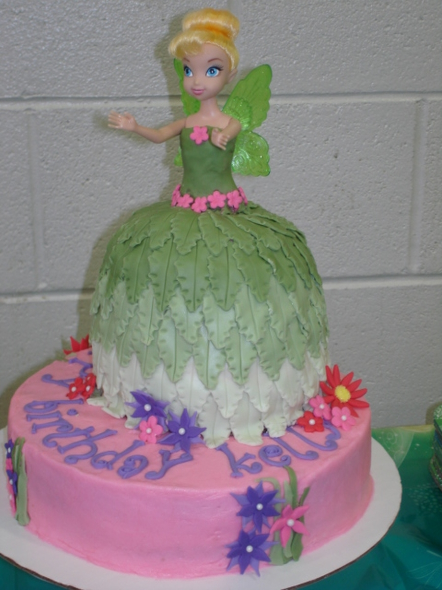 Birthday Cake For My Nieces 3 Yr Old, Tinkerbell. on Cake Central