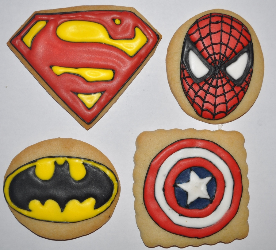 Super Hero Cookies on Cake Central