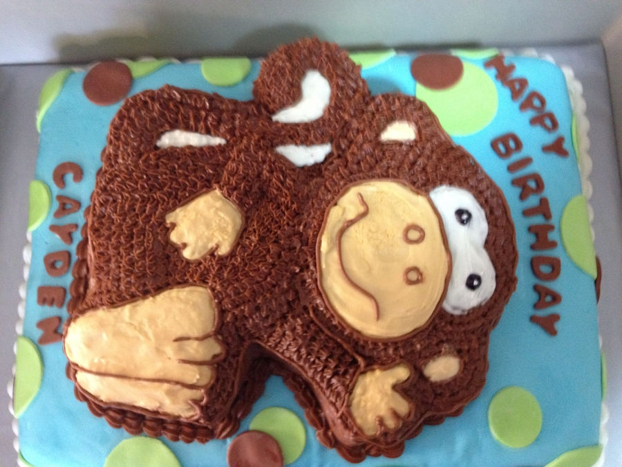 Monkey Birthday Cake on Cake Central