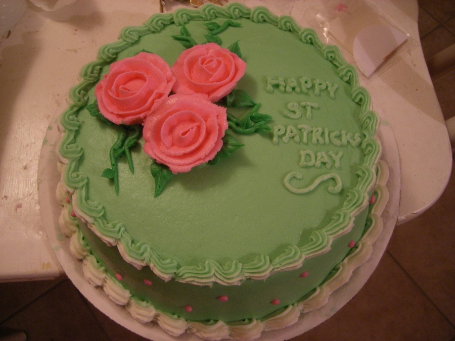 St Patrick's Cake Made For The Office on Cake Central