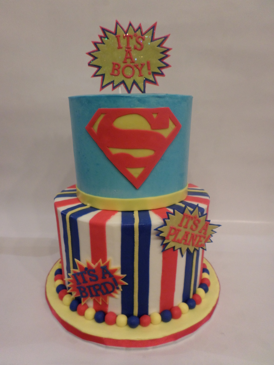 Superman Baby Shower On Cake Central