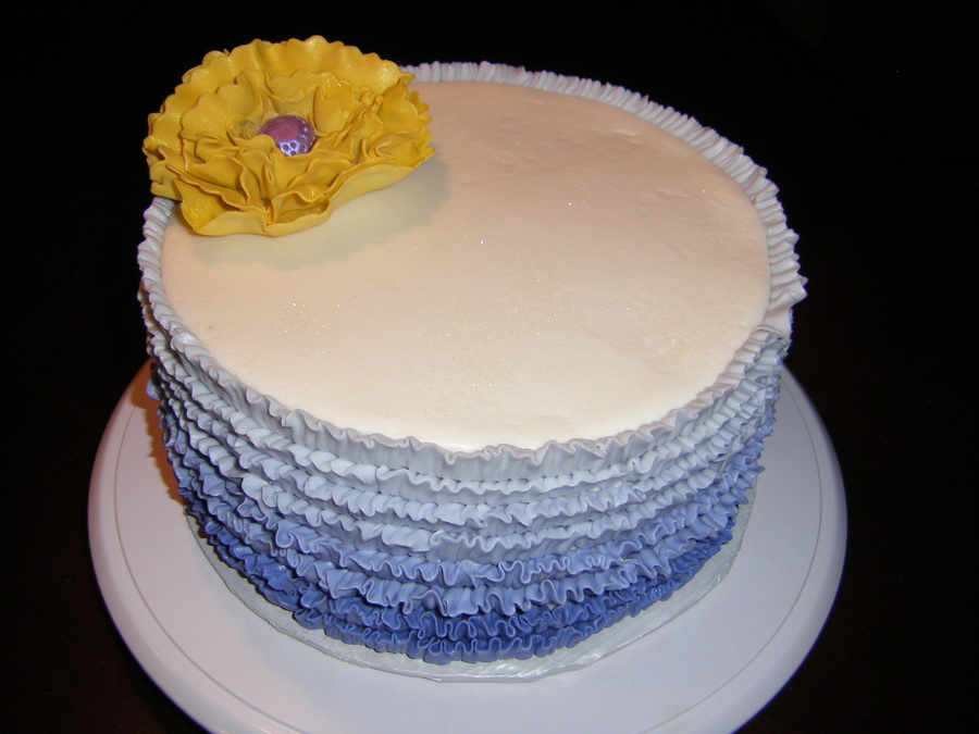 Mom's Ombre Birthday Cake on Cake Central