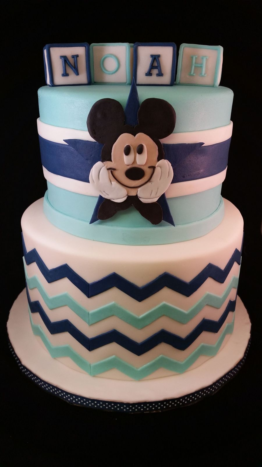 Mickey Mouse Dallas Cowboy Baby Shower - CakeCentral.com
