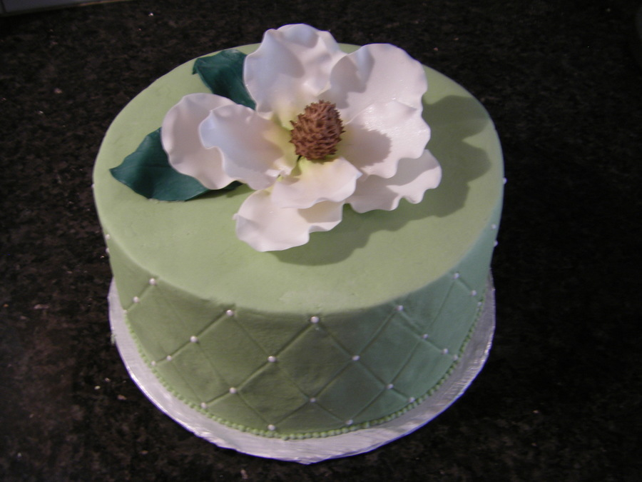 Magnolia Birthday Cake on Cake Central
