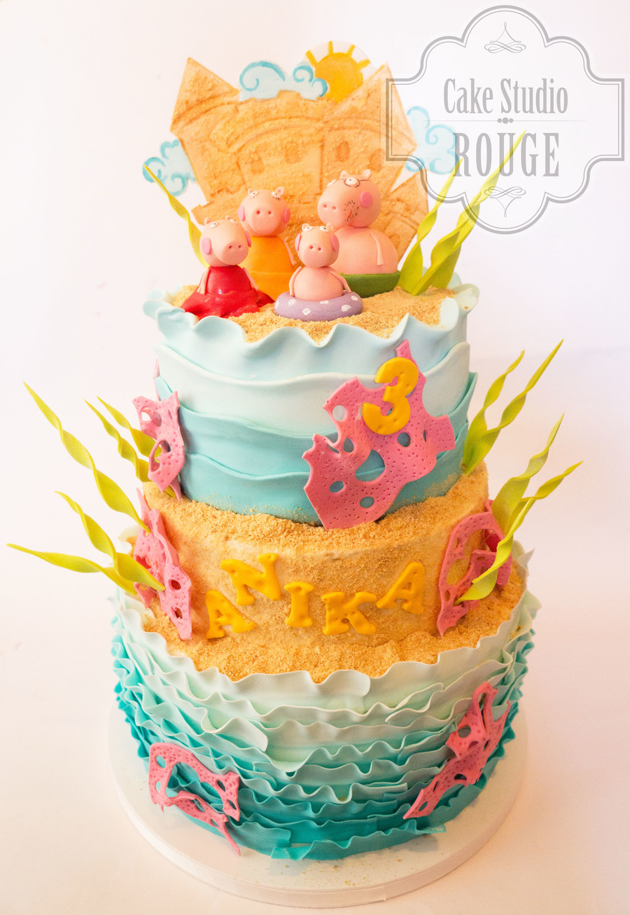 Peppa Pig On The Beach on Cake Central