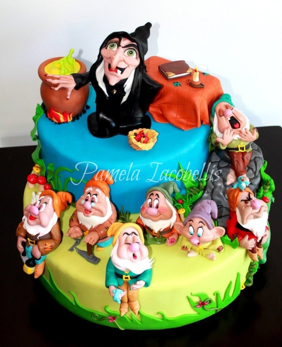 Witch And The 7 Dwarfs  on Cake Central