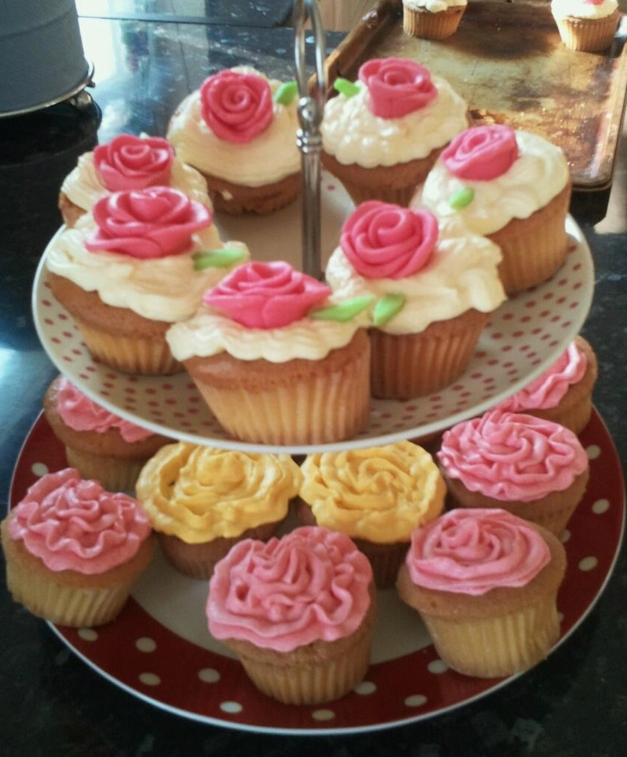 Colorful Rose Cupcakes on Cake Central