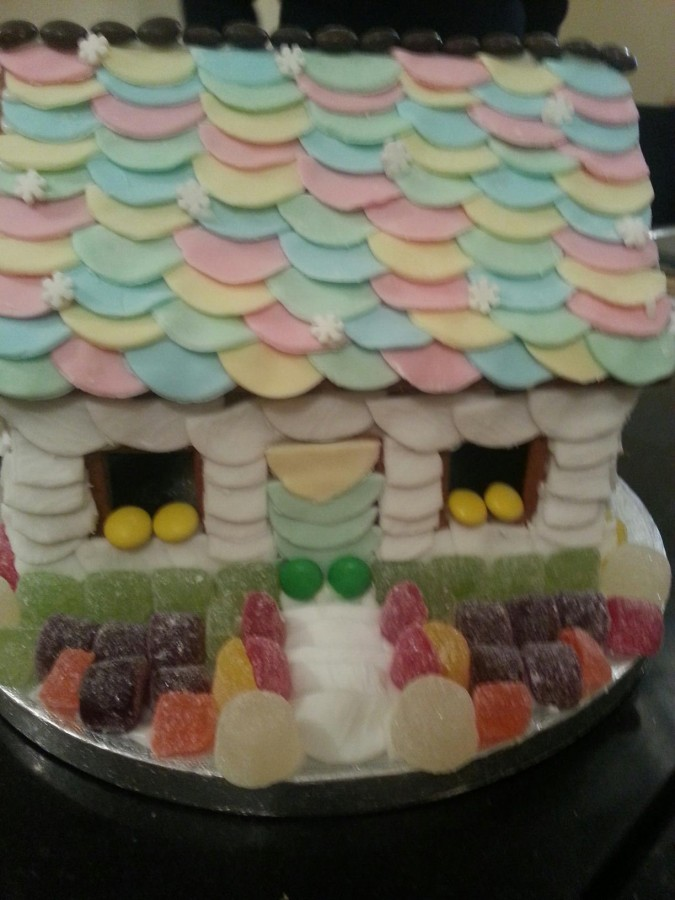 Gingerbread House Decorated With Sweets And Fondant on Cake Central