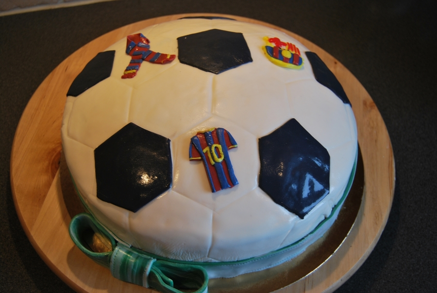 Barcelona Fc Fan Cake  on Cake Central