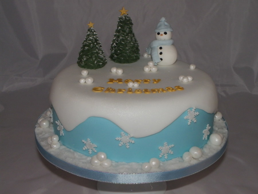Snowy Christmas on Cake Central