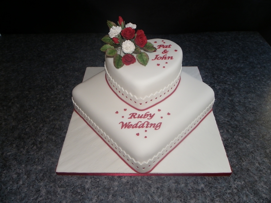 Ruby Wedding Cake on Cake Central