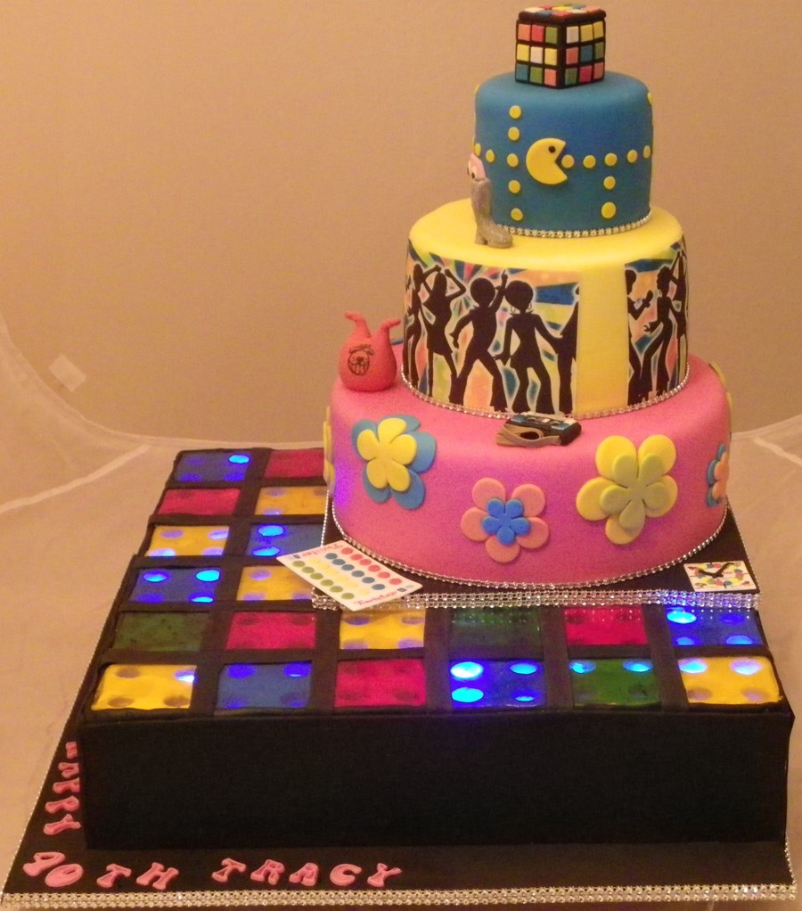 Prime 60S 70S And 80S Themed Cake Cakecentral Com Funny Birthday Cards Online Barepcheapnameinfo