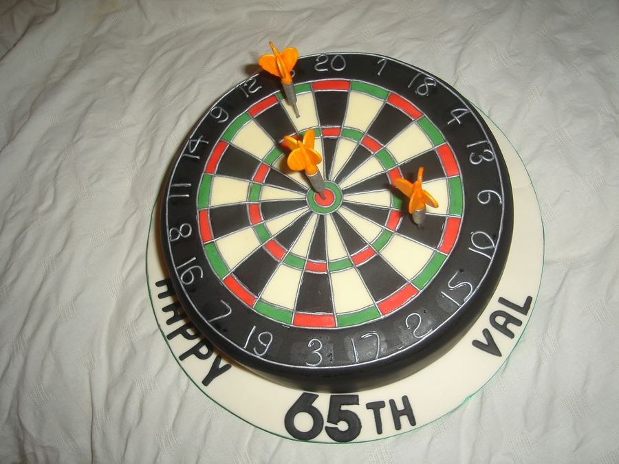 Dartboard Cake  on Cake Central