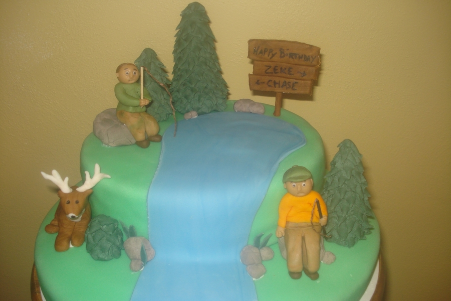 Hunting And Fishing on Cake Central