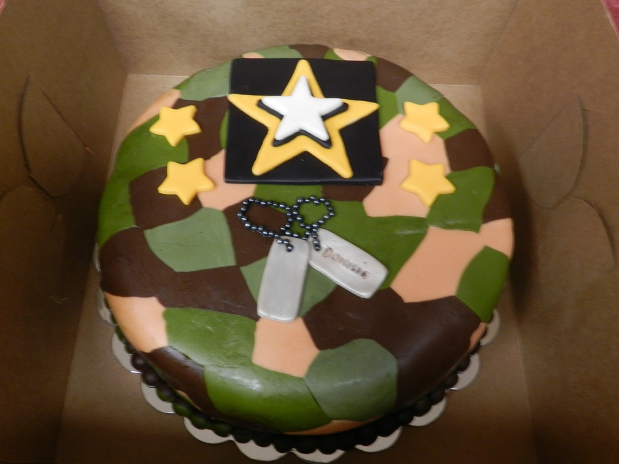 Army Theme Birthday Cake CakeCentralcom