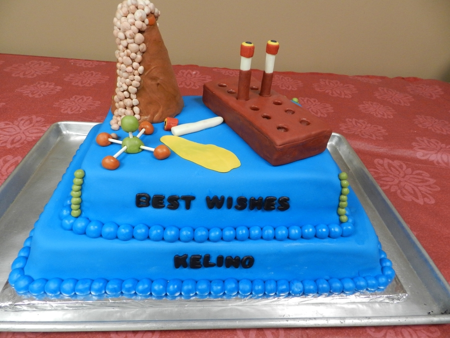 Laboratory Retirement Cake  on Cake Central