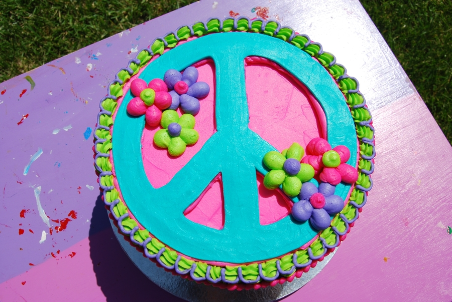 Peace Sign Cakes And Cupcakes