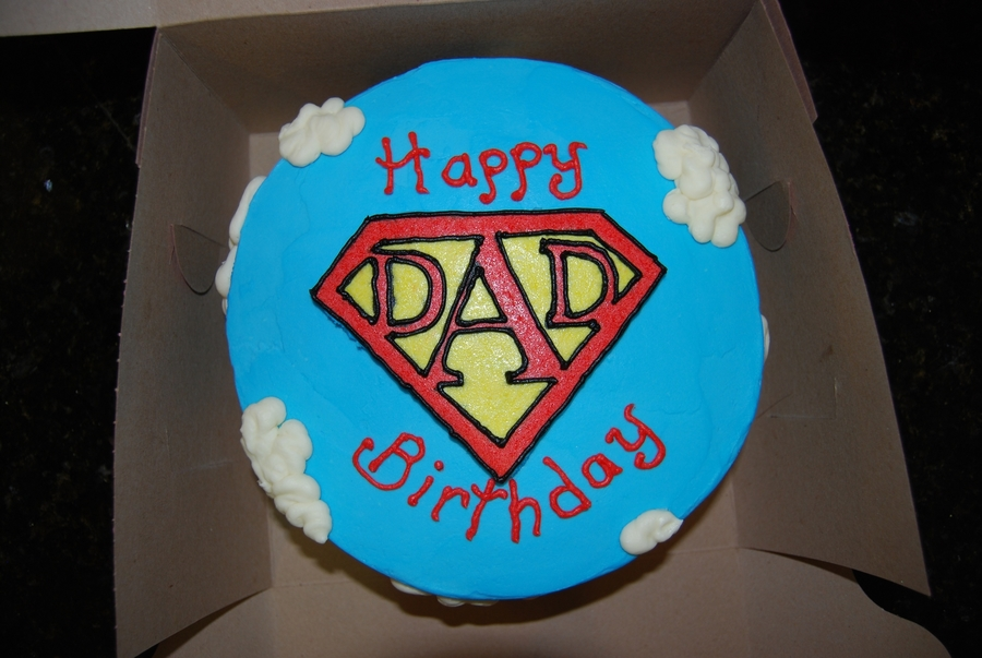 Super Dad Birthday Cake Cakecentral