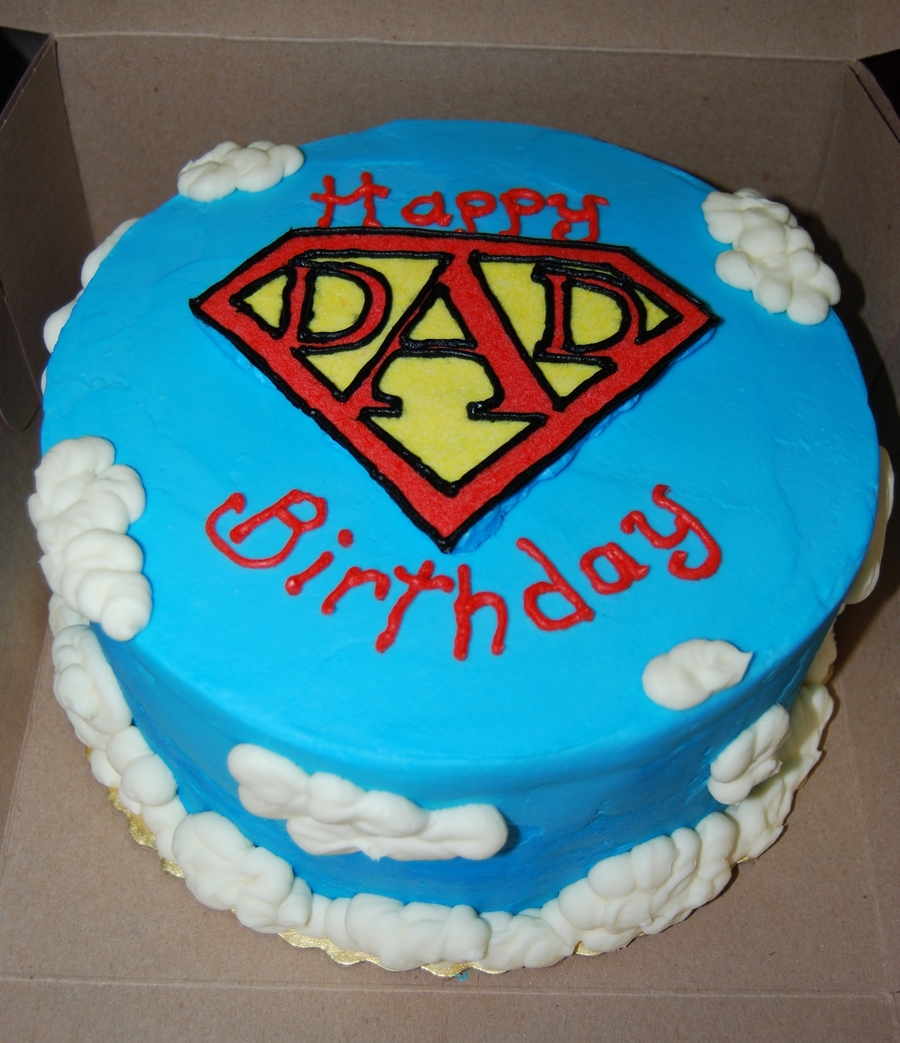 Birthday Cake For Him Images : Super Dad Birthday Cake - CakeCentral.com