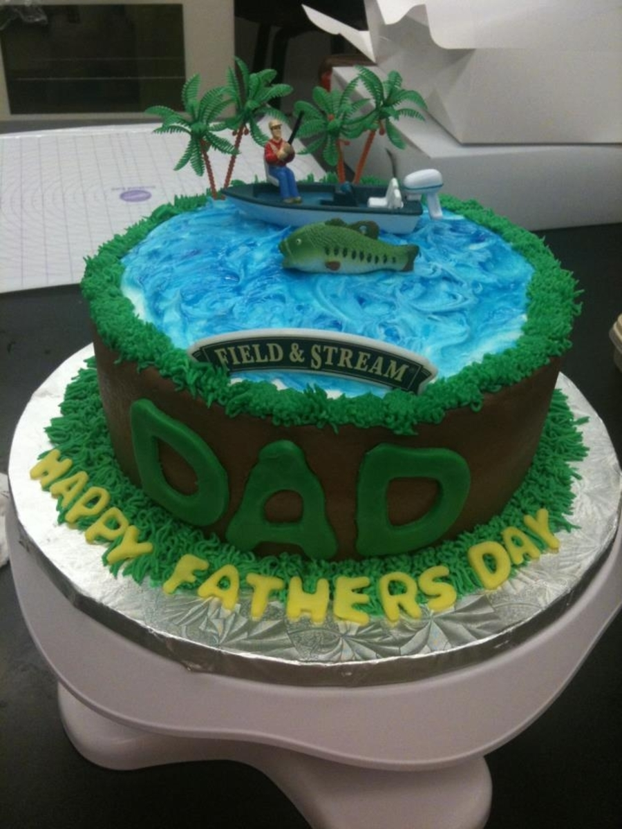 Fishing Cake Fathers Day on Cake Central