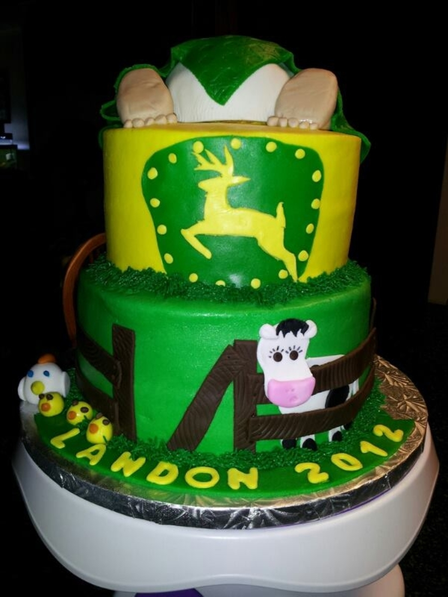 Baby Rump John Deere Cake on Cake Central