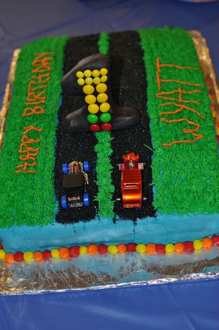 Drag Racing First Birthday on Cake Central