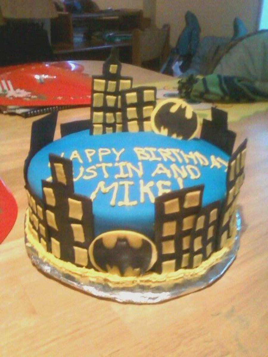 Batman Themed Birthday Cake Cakecentral