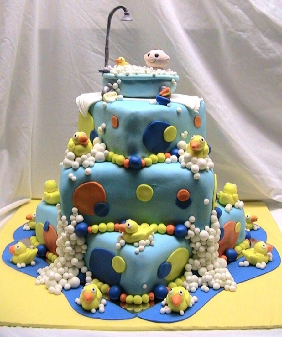 baby in a bath tub ducky baby shower cake. Black Bedroom Furniture Sets. Home Design Ideas