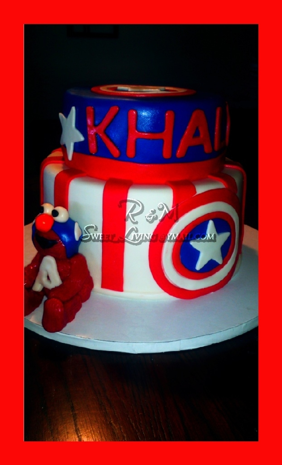 Elmo Captain America Cake on Cake Central