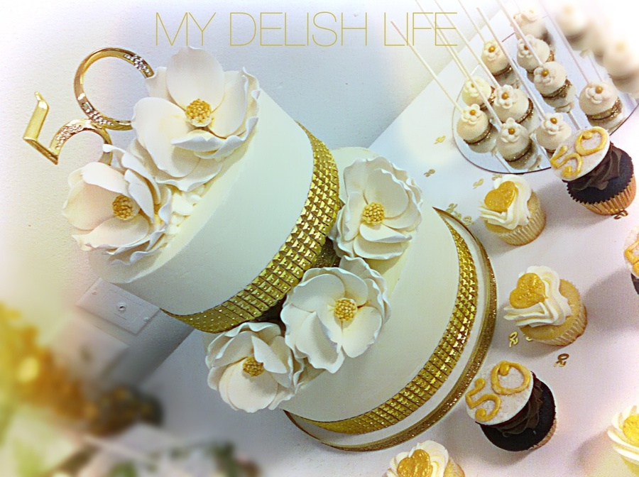 50Th Wedding Anniversary Cake Anniversary Cake on Cake Central