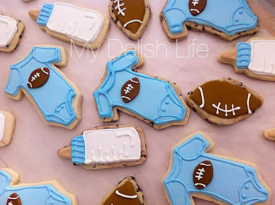Lil Guy Baby Shower Cookies Football Theme Sugar Cookies Amp