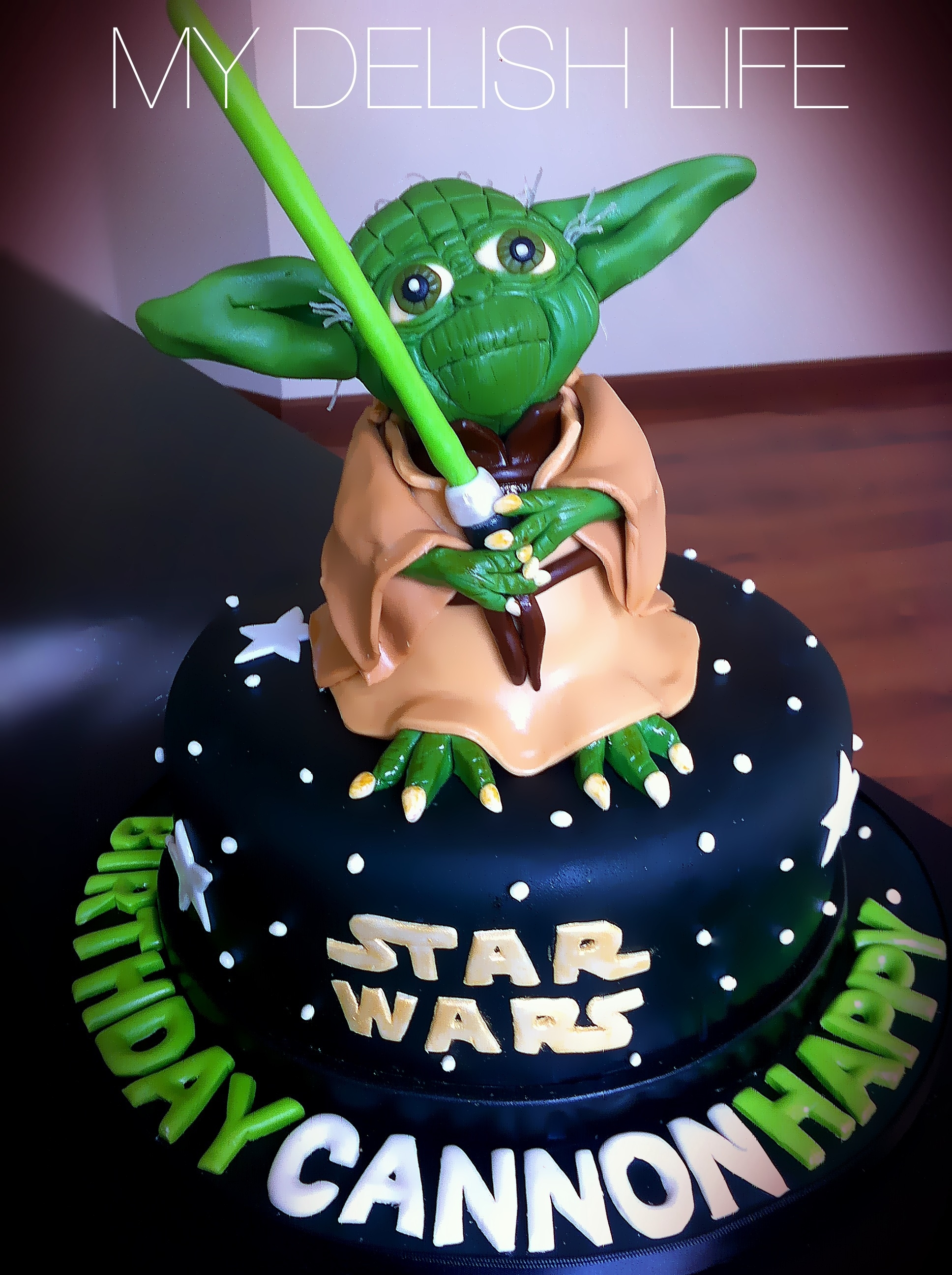 Yoda Yoda Cake Star Wars Cake All Edible - CakeCentral.com