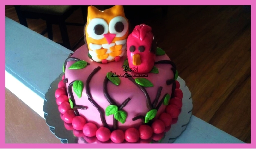 Owl Birdie Cake on Cake Central