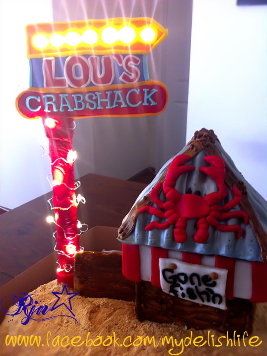 crab shack fisherman theme cake crab shack beach ocean pier, Reel Combo