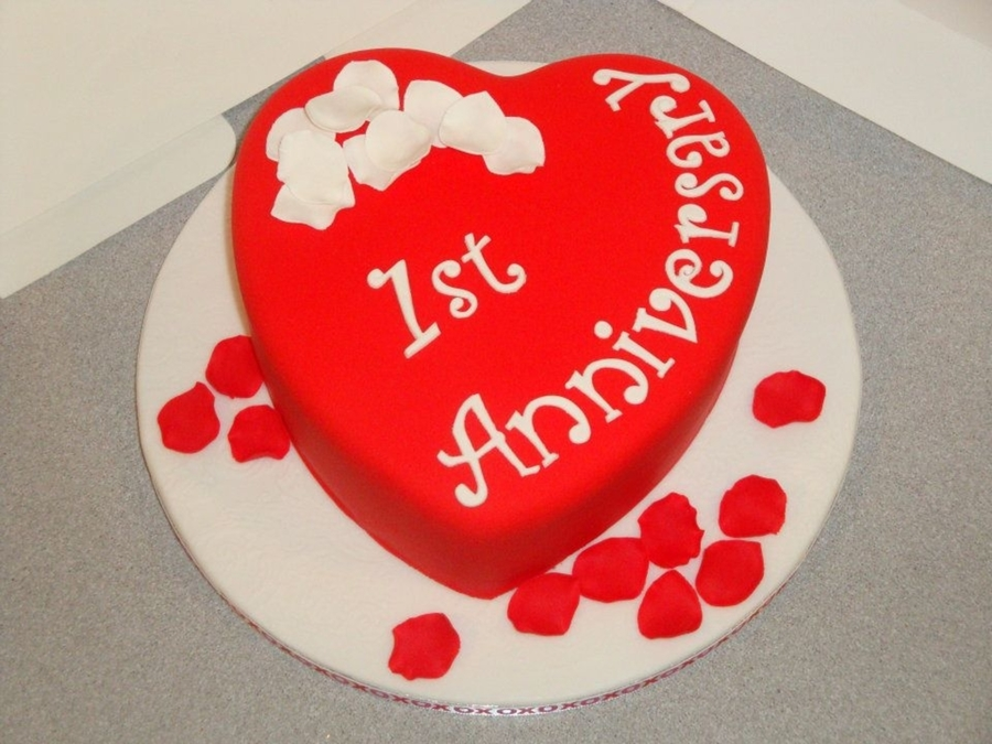 Cake Designs For First Anniversary : 1St Anniversary Cake - CakeCentral.com