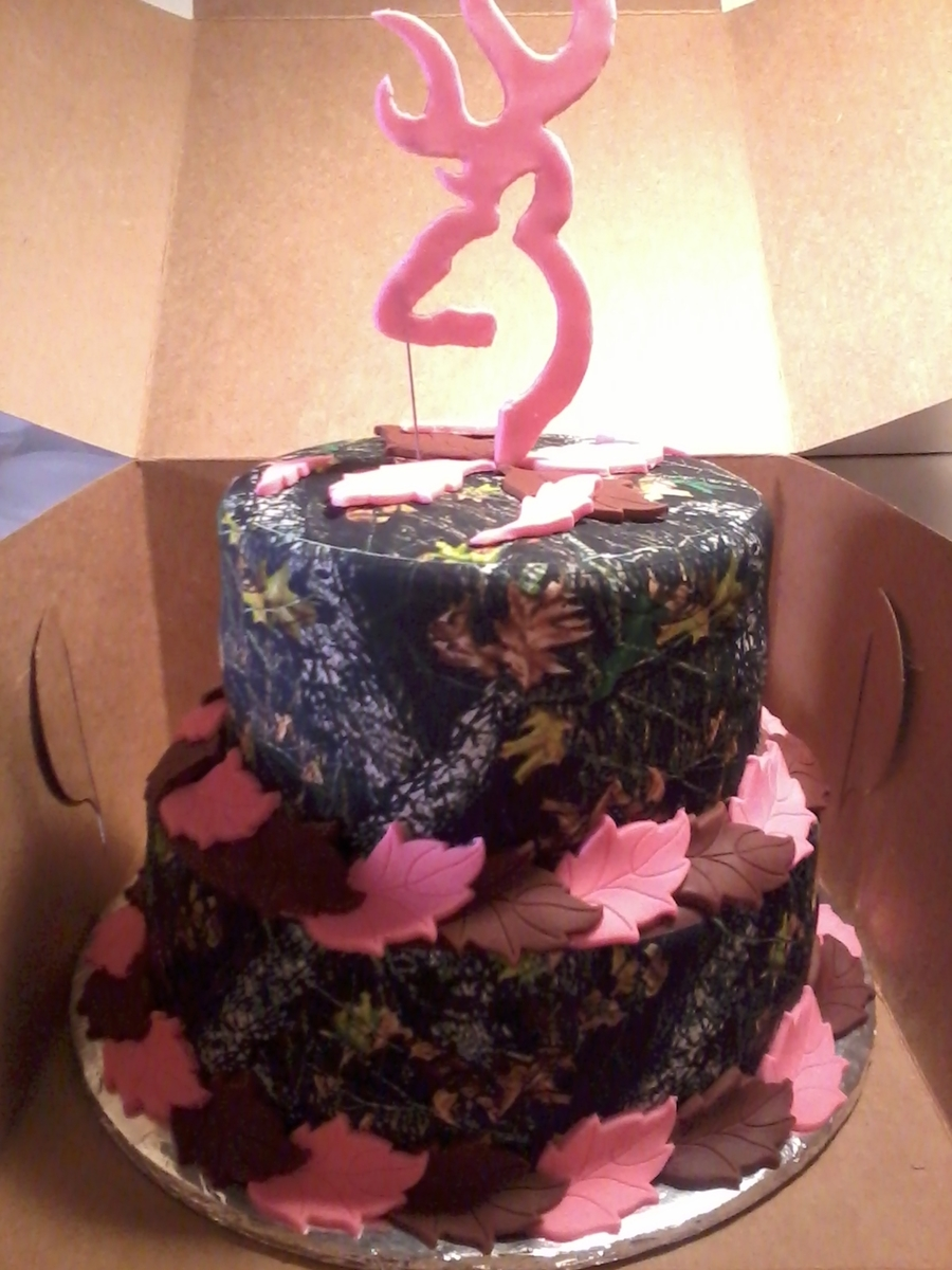 Camo & Pink on Cake Central